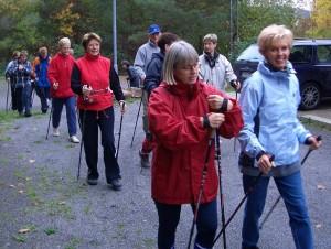 Die Nordic Walking Gruppe des Skiverein Neuenbürg